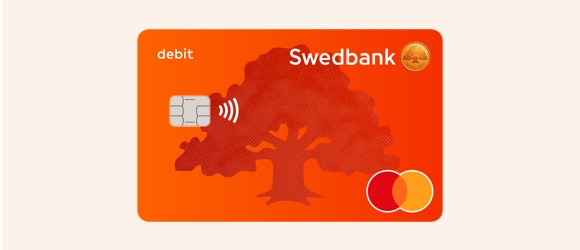 New design for Swedbank payment card!